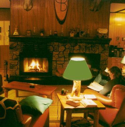 Evening around the fire - 2003